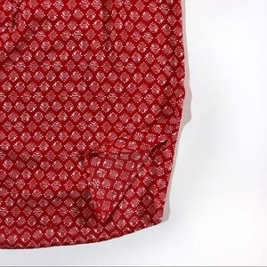 LOFT Tops - Ann Taylor LOFT ruffle button petite red top